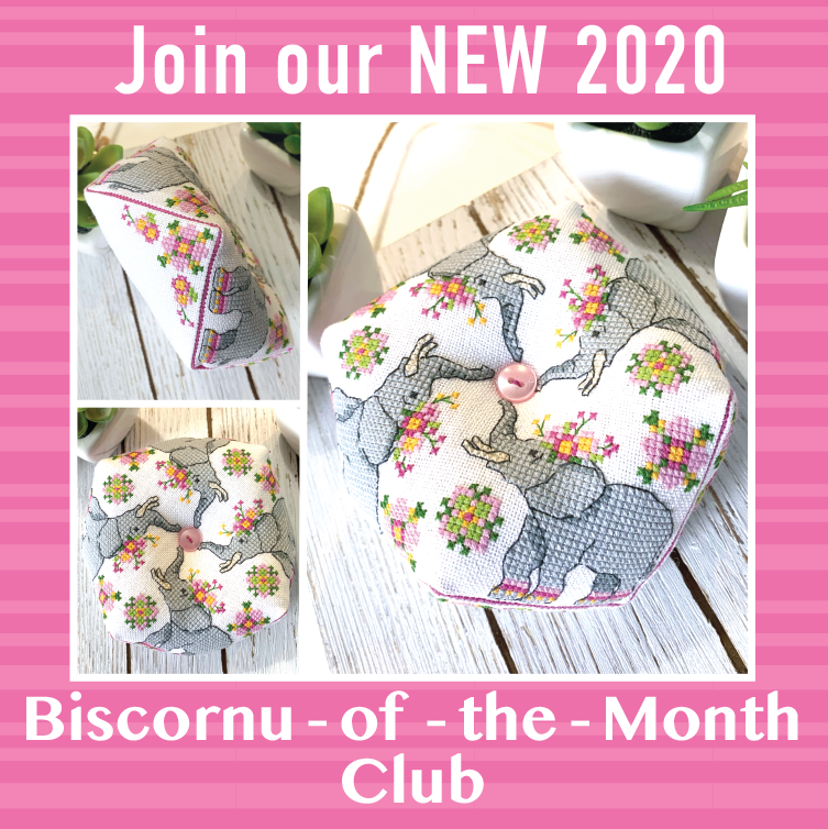 2020 Biscornu of the Month Club - Animal Series Cross Stitch Patterns