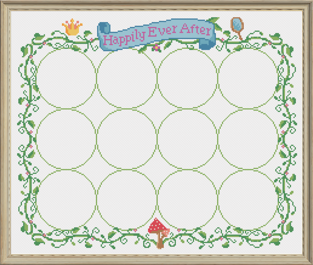 2021 Fairy Tale Series Border Chart Cross Stitch Pattern