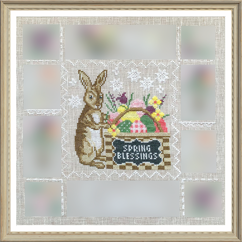 2021 Spring SAL: Spring Blessings Cross Stitch Pattern