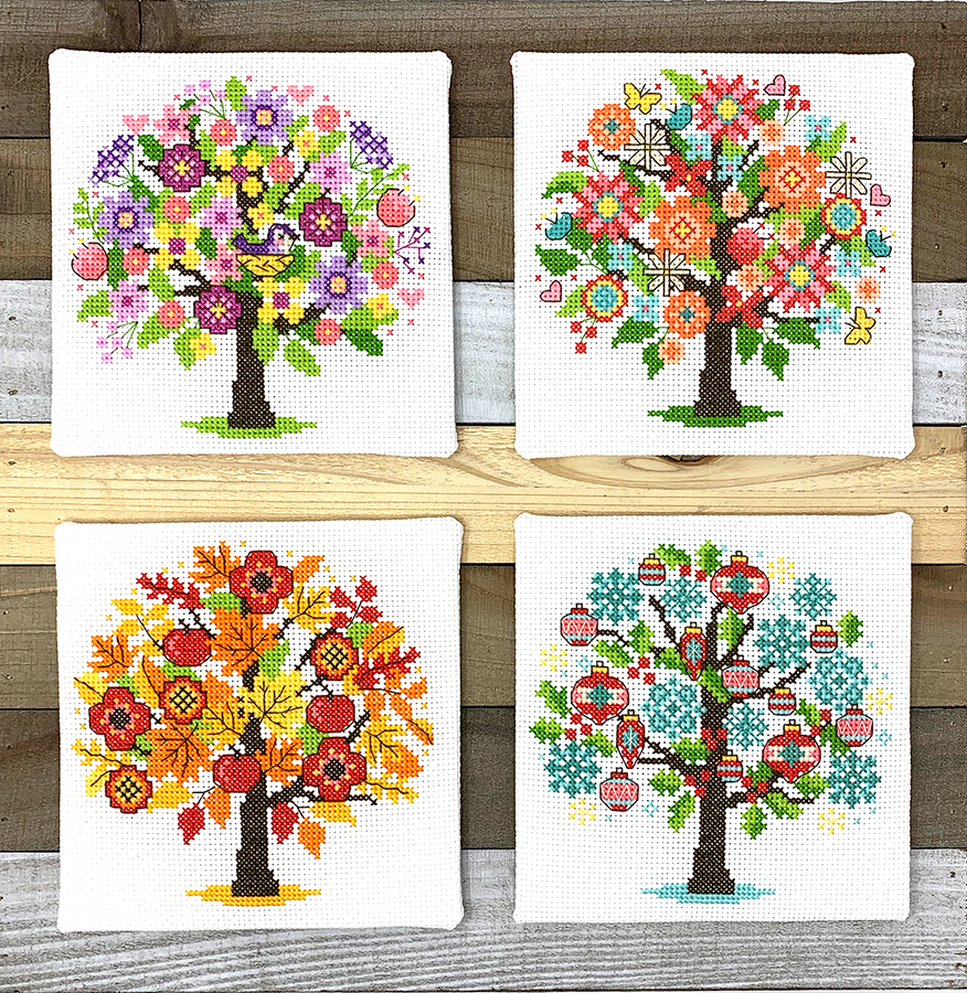 Modern Cross Stitch - Seasonal Trees Cross Stitch Pattern