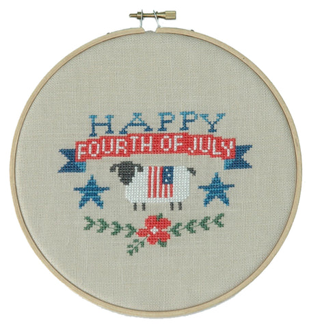 Happy 4th of July Cross Stitch Pattern Instant Download