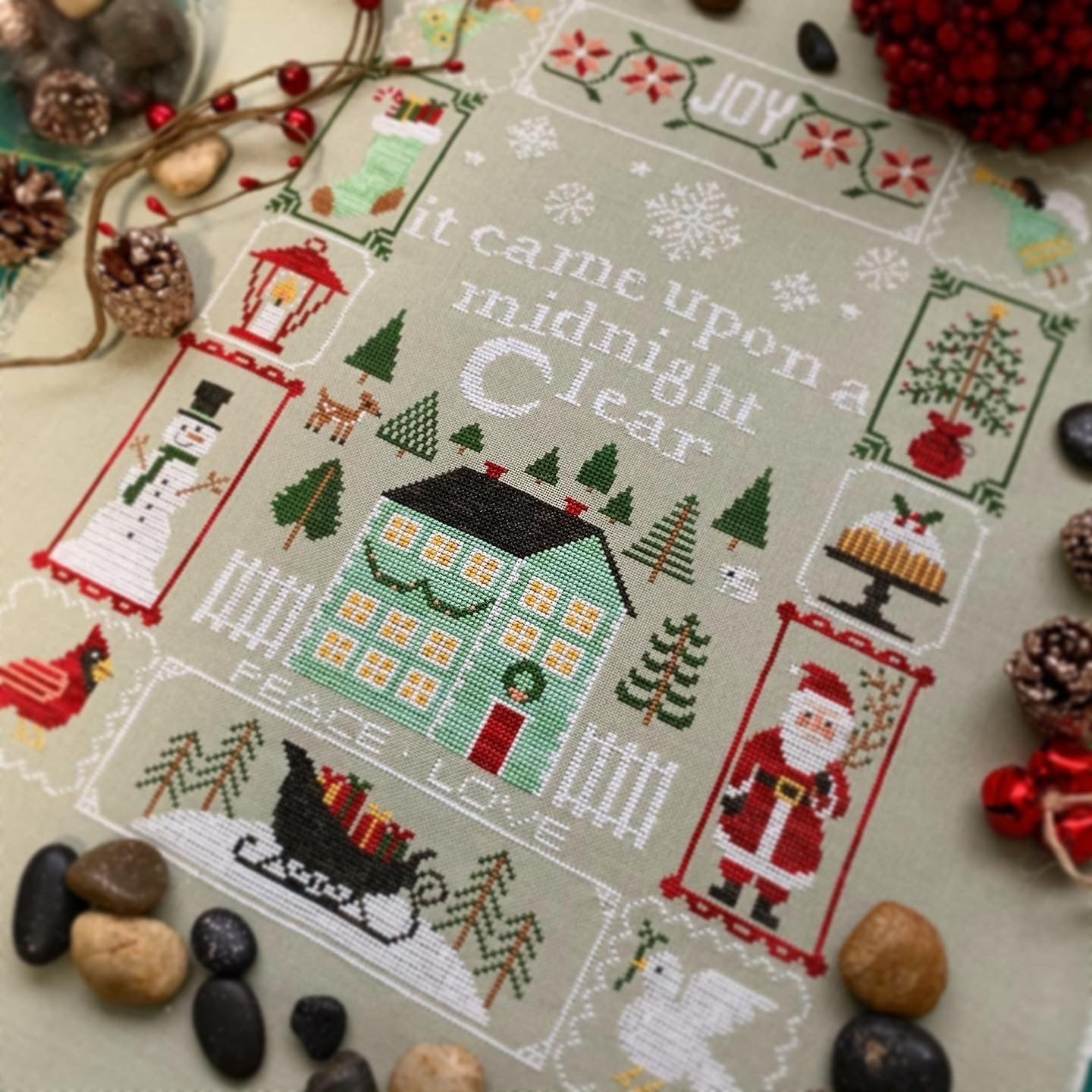 easy robin designs 3 modern cute Instant download Cross stitch Christmas Cards and Ornaments PDF fun xmas craft cross stitch patterns