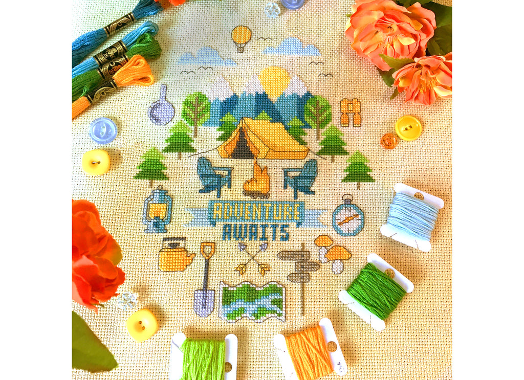 Modern Cross Stitch - Adventure Awaits Cross Stitch Pattern