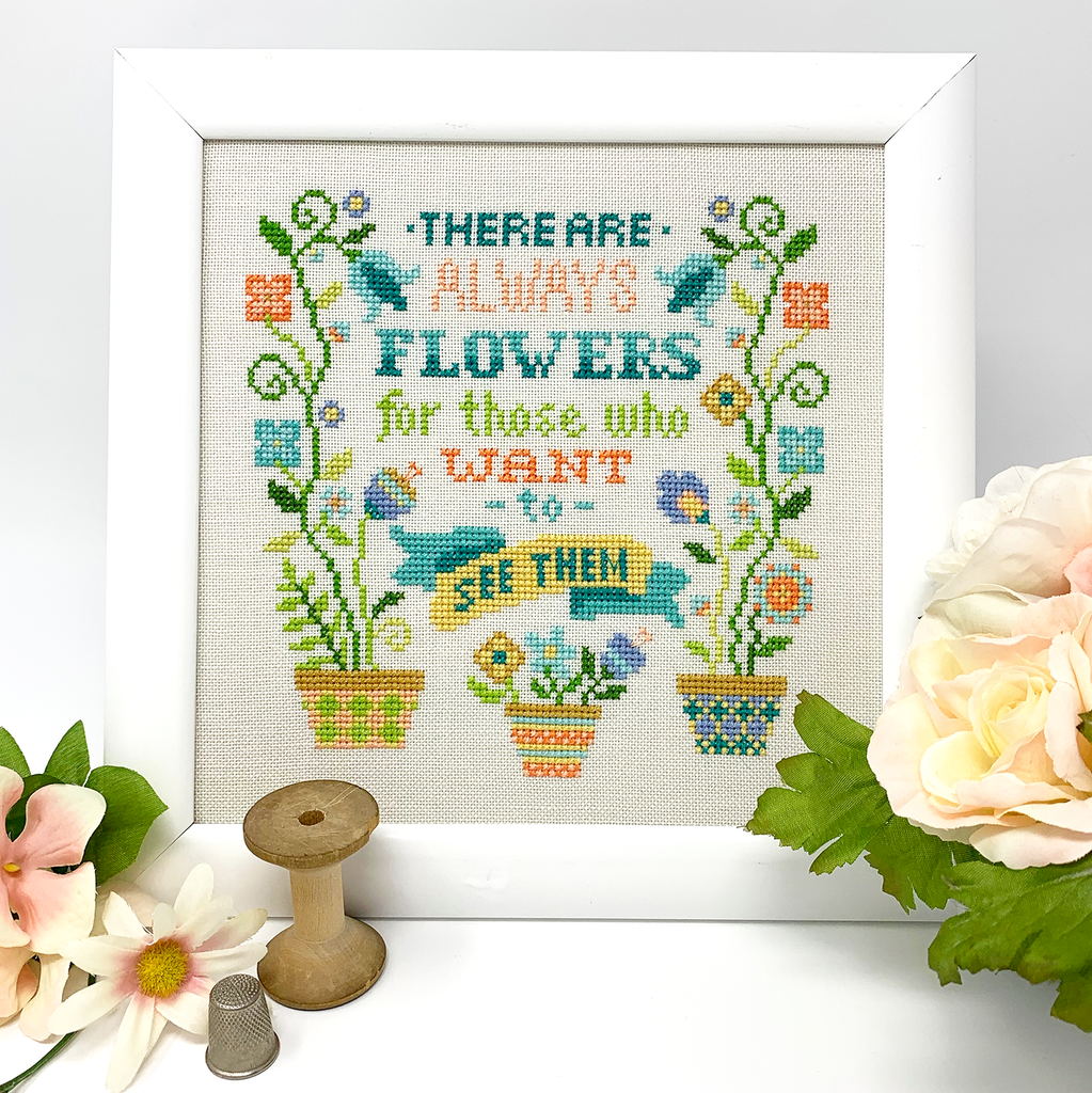 NEW! Always Flowers Cross Stitch PDF Instant Download