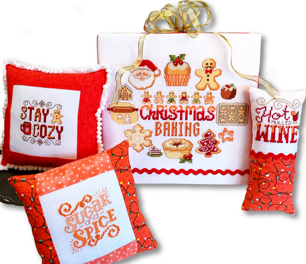 Christmas Baking Motifs - Modern Cross Stitch Pattern