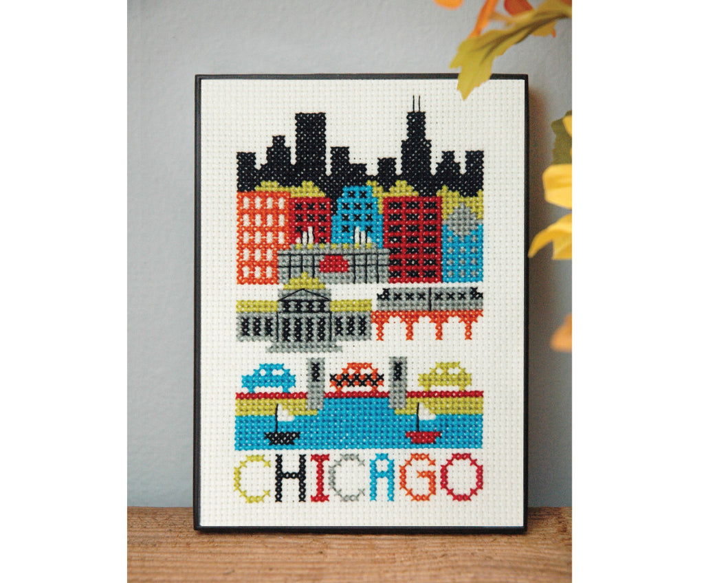 Chicago Cross Stitch Pattern Instant Download
