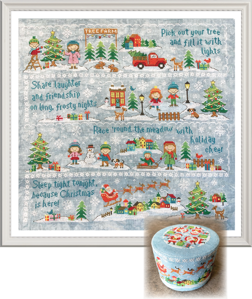 2019 Holiday SAL: Christmas Village Cross Stitch Pattern
