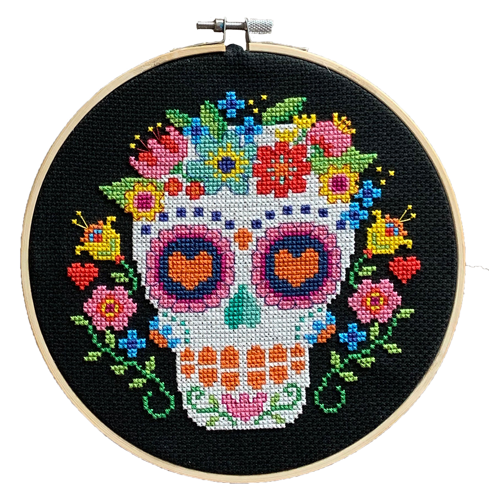 Modern Cross Stitch - Day of the Dead Trio by Tiny Modernist
