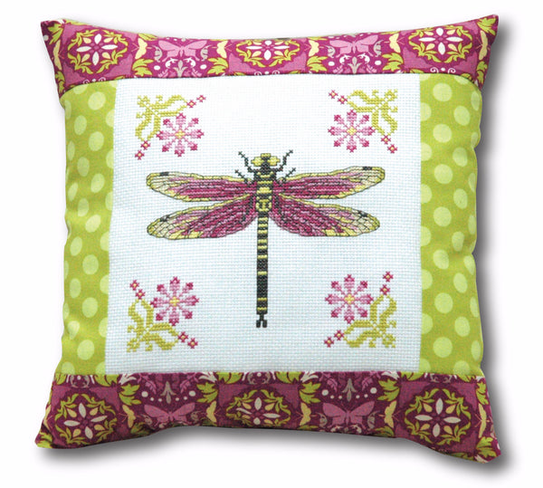 Pretty Dragonfly Cross Stitch Pattern - PDF Instant Download