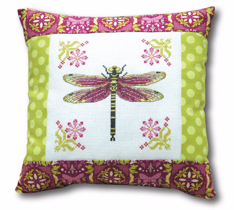 Dragonfly Pillow Cross Stitch Pattern Instant Download