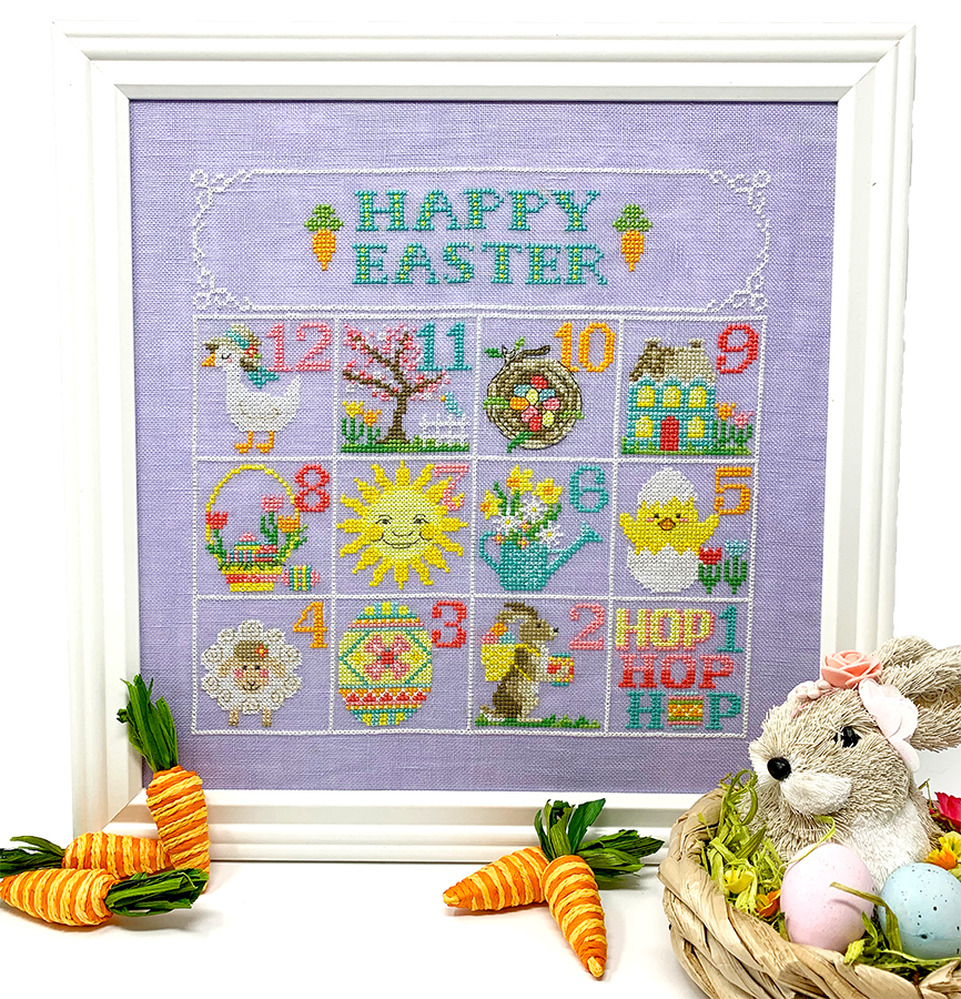 NEW! Easter Calendar - Modern Cross Stitch PDF Pattern