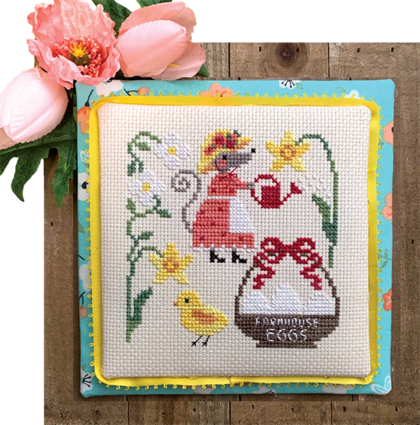 Mouse's Easter Bonnet - Modern Cross Stitch Pattern PDF