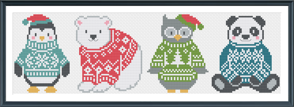 FairIsle Friends Cross Stitch PDF Instant Download
