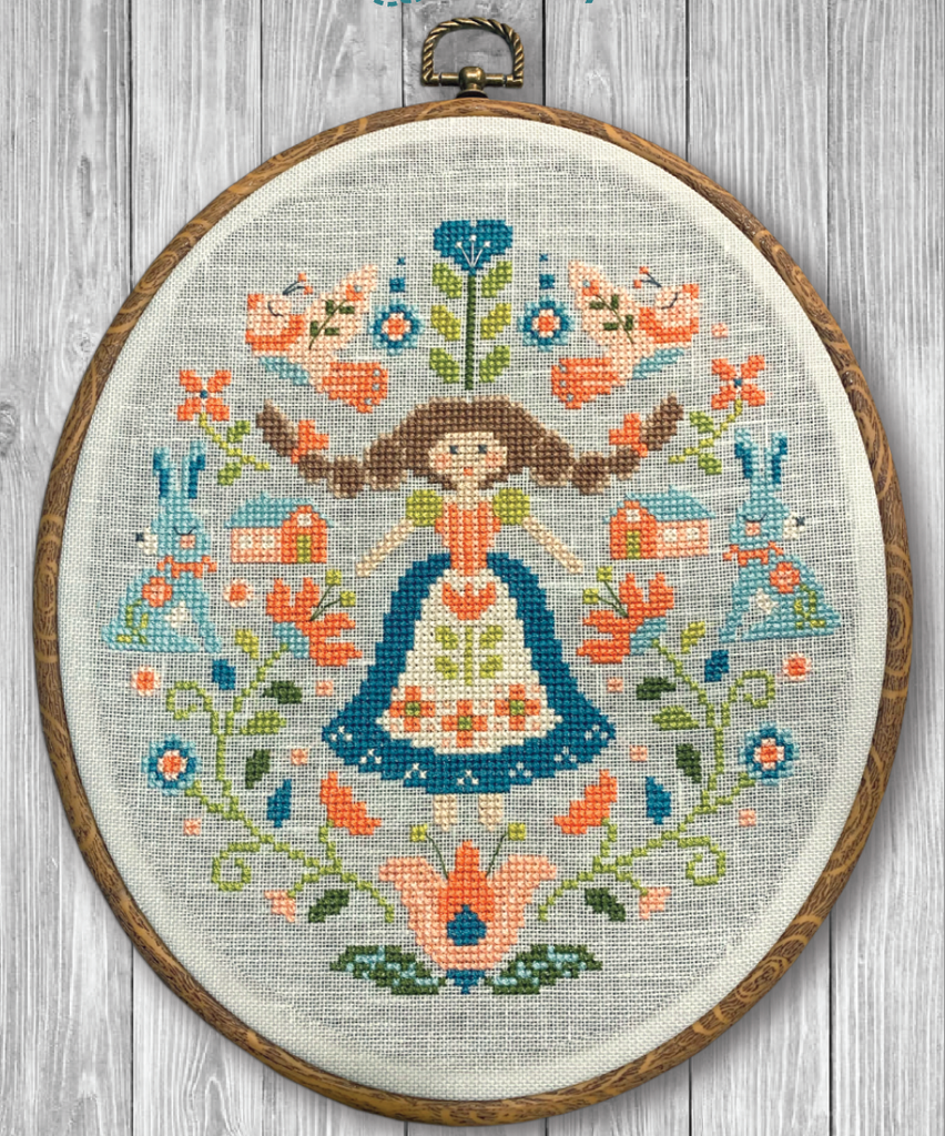 NEW! Folk Art Sampler Cross Stitch PDF Instant Download