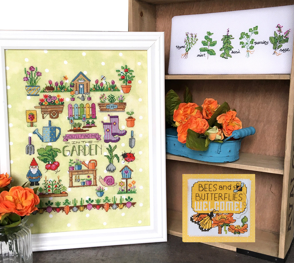 Modern Cross Stitch - Spring Garden Motifs by Tiny Modernist
