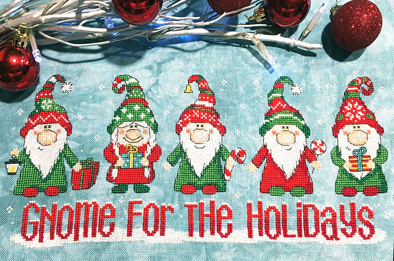 Modern Cross Stitch Pattern - Gnome for the Holidays