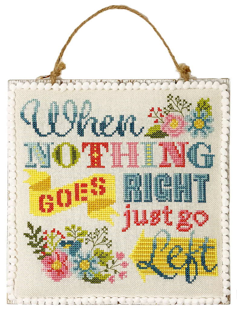 NEW! Just Go Left Cross Stitch PDF Instant Download