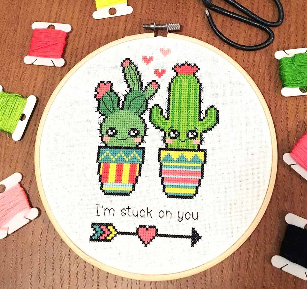 Modern Cross Stitch - Stuck on You Cross Stitch Pattern Instant Download