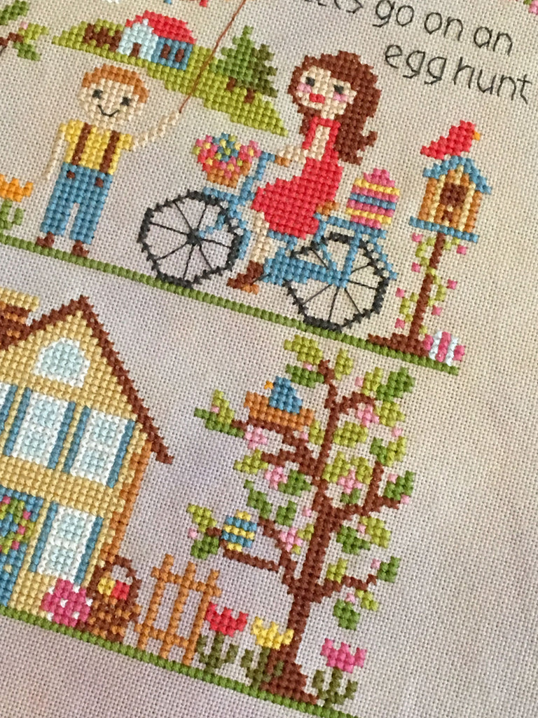 Modern Cross Stitch - Let's Go on an Egg Hunt! Easter Cross Stitch Pattern