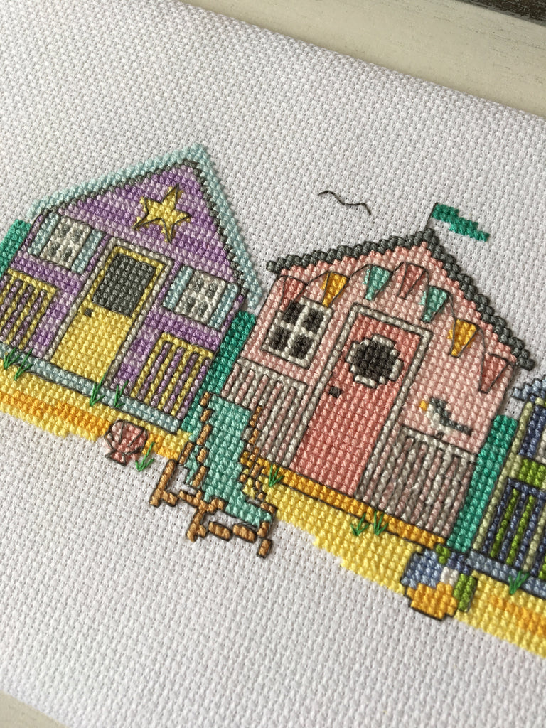 Modern Cross Stitch - Summer Beach Huts Cross Stitch Pattern