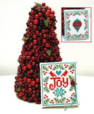 Joy Needlebook Christmas Cross Stitch Pattern Instant Download
