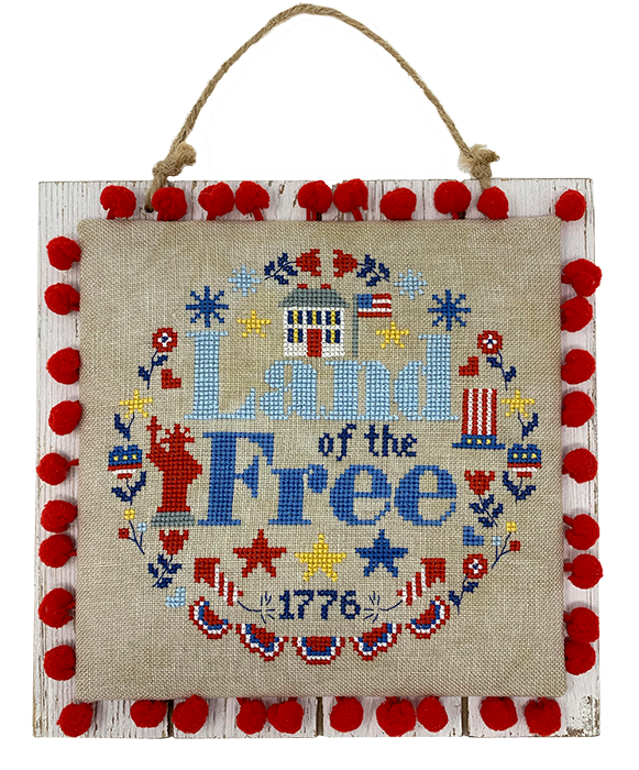 NEW! Modern Cross Stitch - Land of the Free Wreath Cross Stitch Pattern PDF