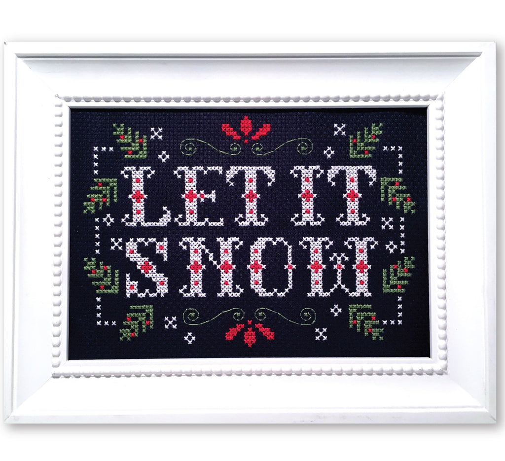Let it Snow - Winter Cross Stitch Pattern - Instant Download