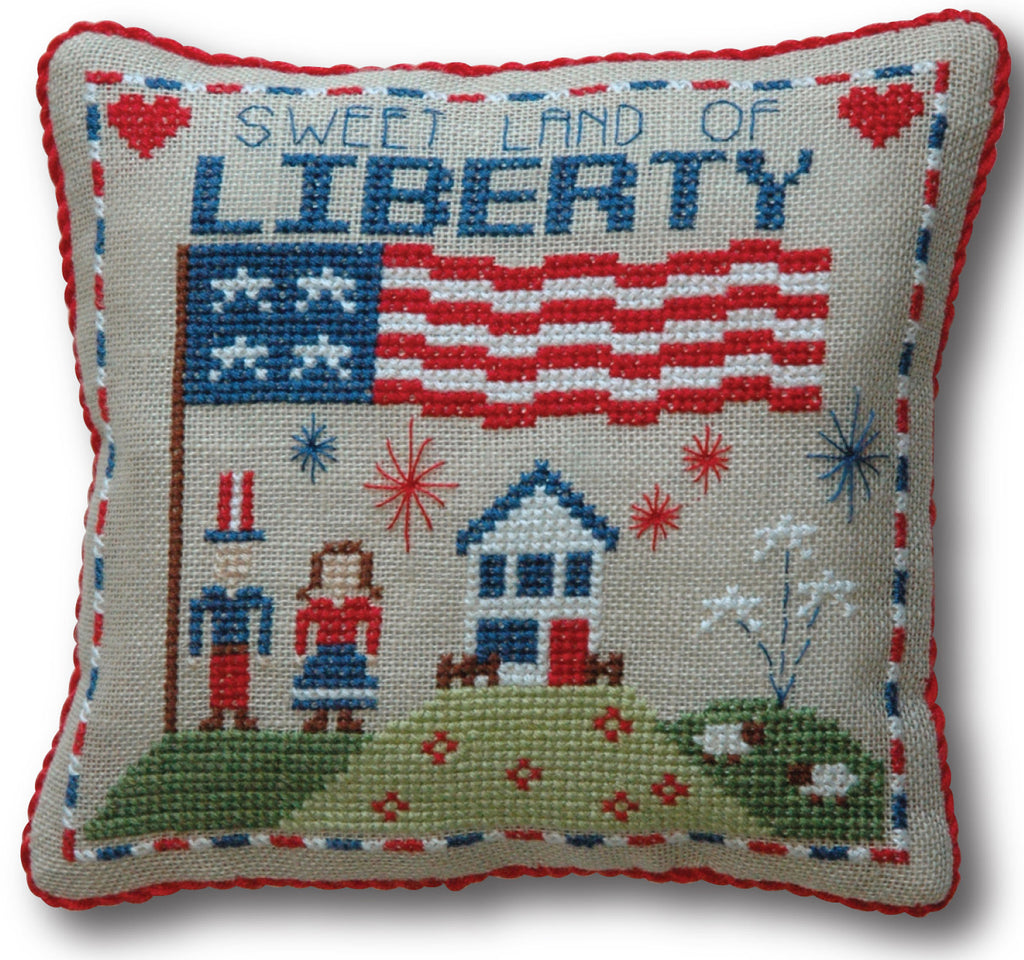 4th of July Cross Stitch Pattern Instant Download