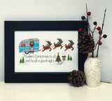 Retro Christmas Camper Cross Stitch Pattern Instant Download