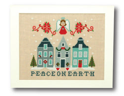 Peace on Earth Christmas Cross Stitch Pattern Instant Download