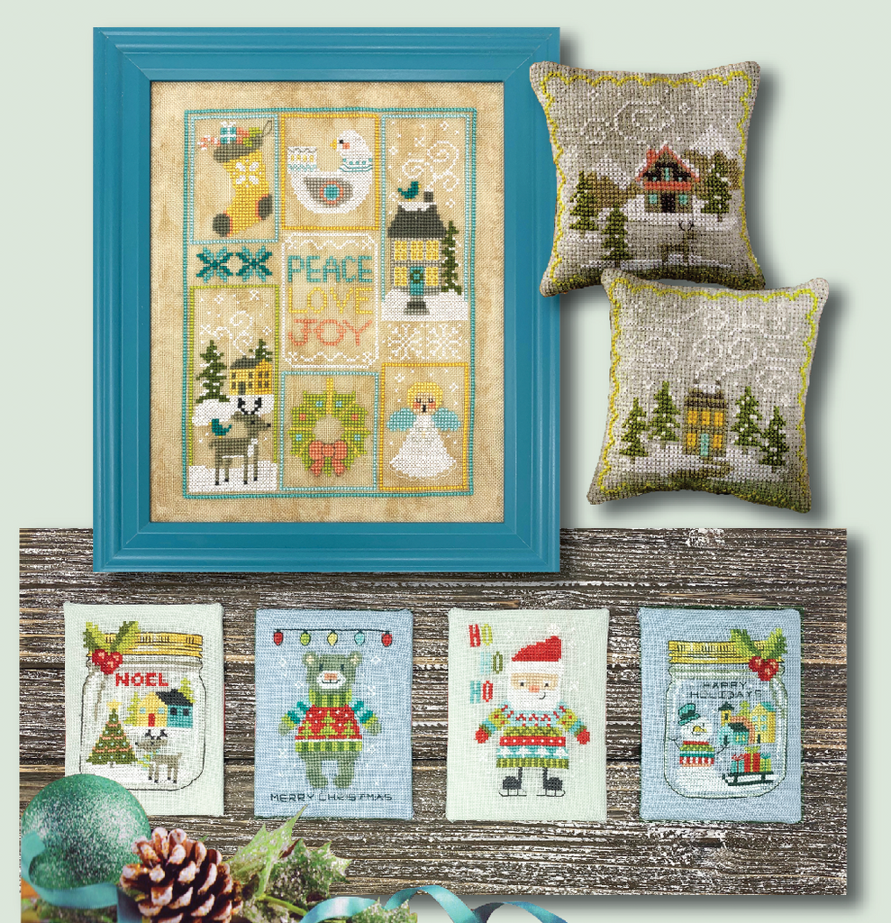 Scandi Christmas Set Modern Cross Stitch Pattern PDF