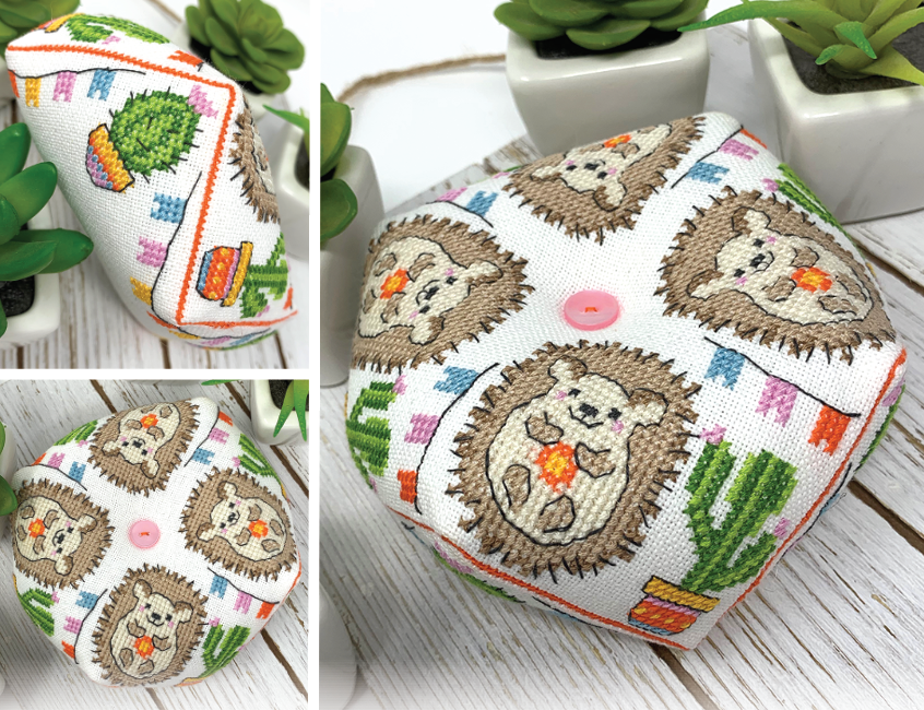 Hedgehog Biscornu - Modern Cross Stitch Pattern