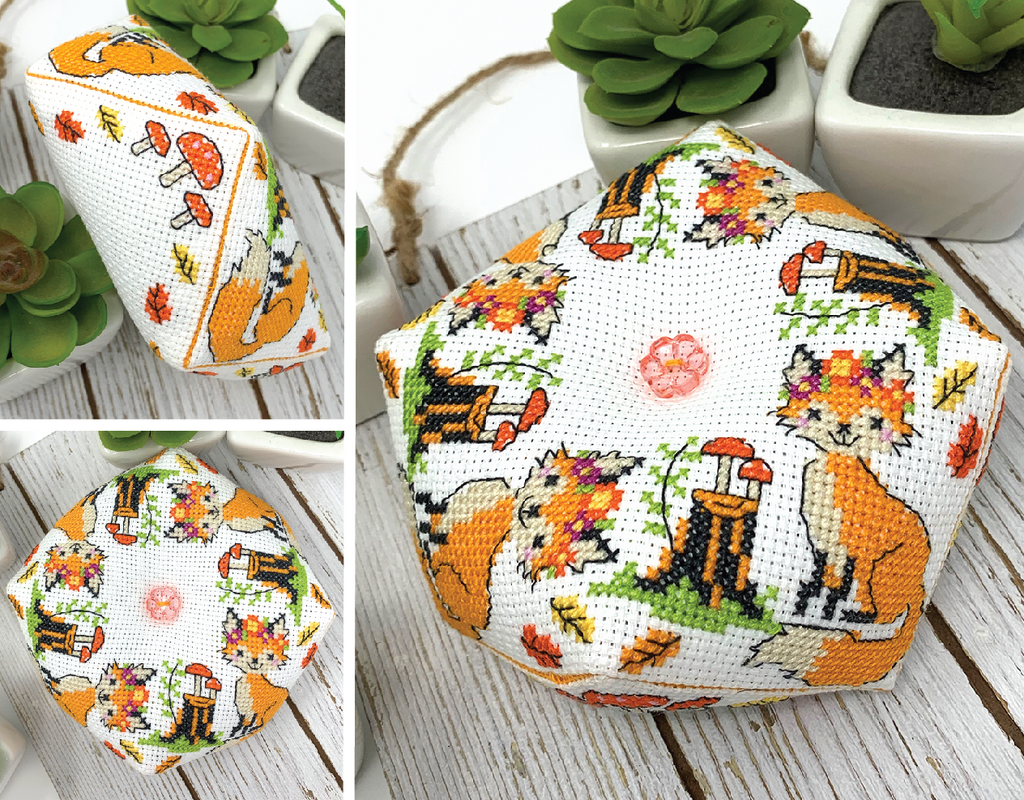 Fox Biscornu - Modern Cross Stitch Pattern