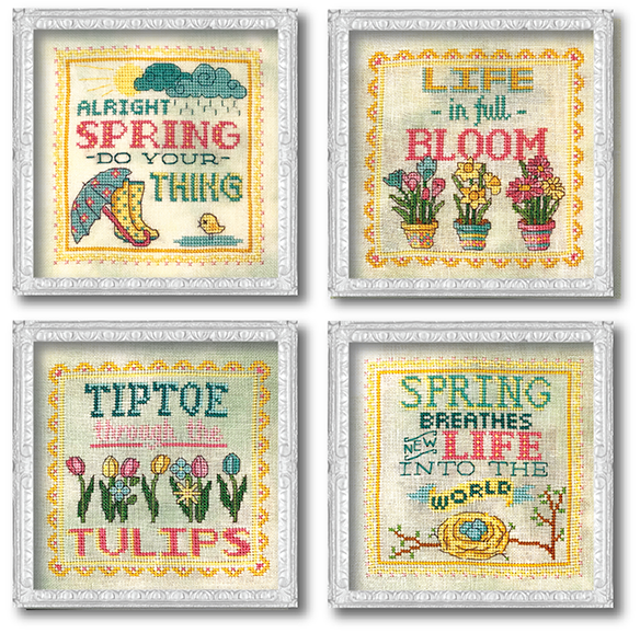 Vintage Spring Signs Cross Stitch Pattern