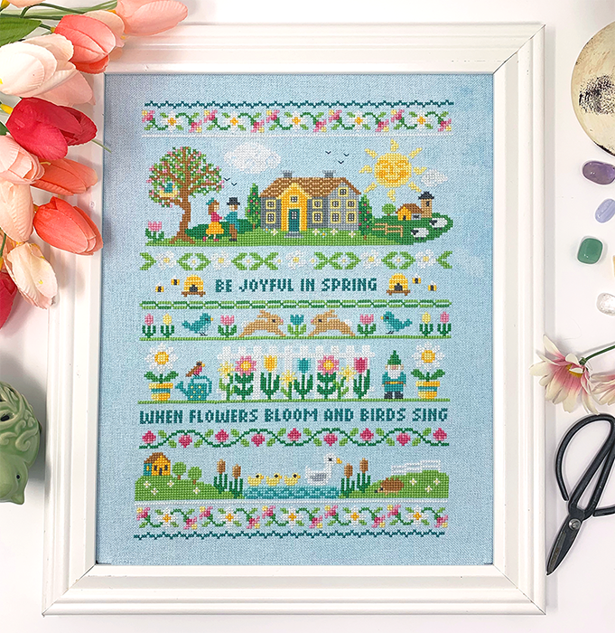 Spring Band Sampler - Modern Cross Stitch Pattern