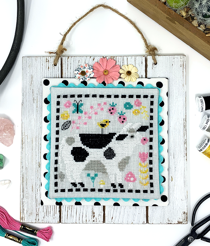 Strawberry Cow - Cross Stitch PDF Pattern for Moo the Merrier