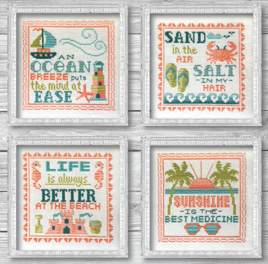Vintage Summer Signs Cross Stitch Pattern