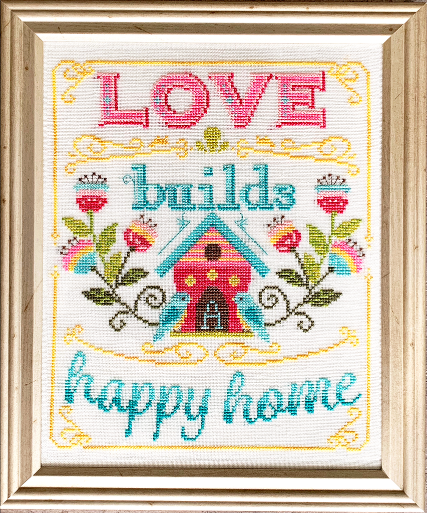 NEW! Love Builds Cross Stitch Pattern Instant Download