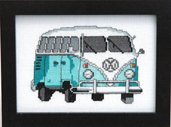 Teal VW Bus Cross Stitch Pattern Instant Download