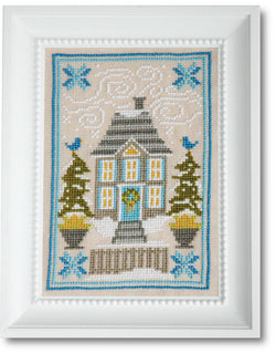 Winter House Cross Stitch Pattern Instant Download