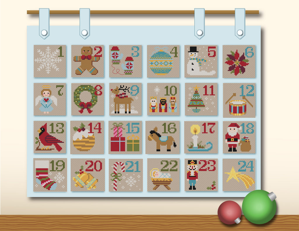 Advent Calendar Cross Stitch PDF Pattern