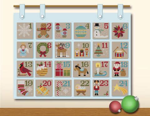 How To Finish A Cross Stitch Advent Calendar Tiny Modernist Cross