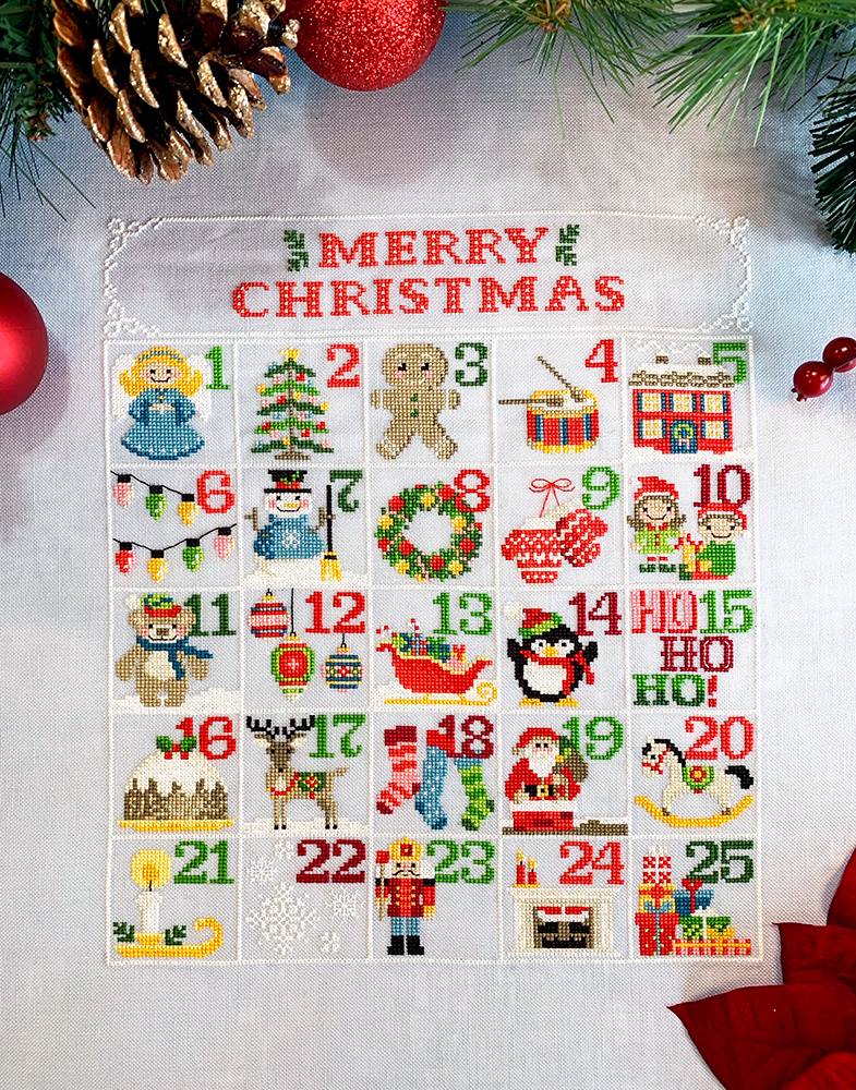 NEW! Christmas Calendar - Modern Cross Stitch PDF Pattern