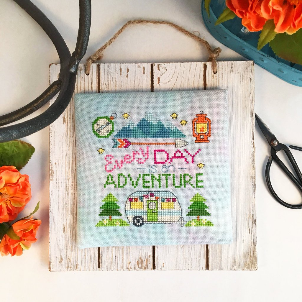 Modern Cross Stitch Quote - Every Day is an Adventure Cross Stitch PDF Chart