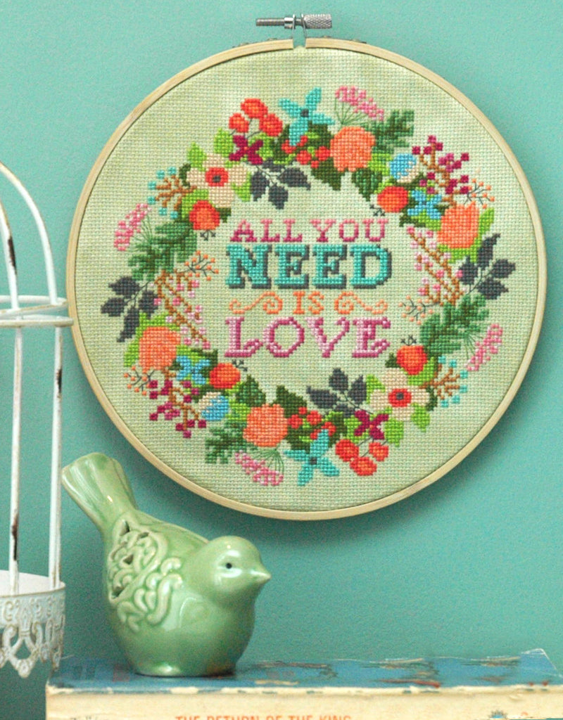 All you Need is Love Cross Stitch PDF Instant Download