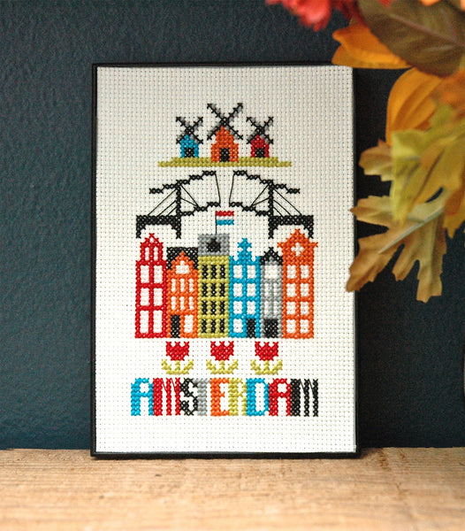 Amsterdam Cross Stitch Chart Instant Download