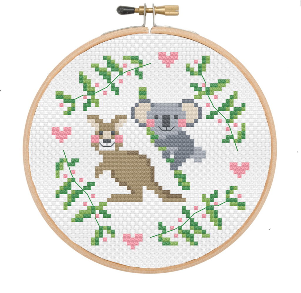 Aussie Buddies - Cross Stitch Pattern Instant Download