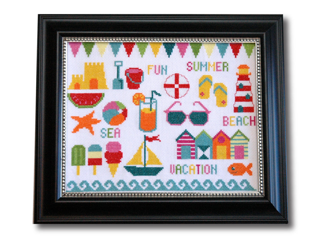 Beach Motifs Cross Stitch Pattern Instant Download