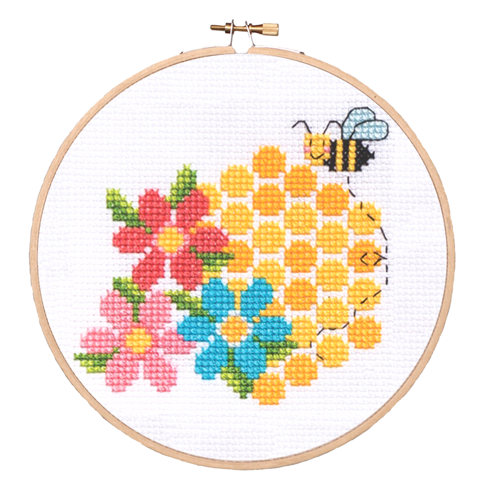 Modern Cross Stitch - Bees & Honey Cross Stitch Pattern