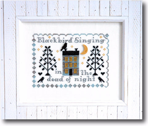 Blackbird Sampler Cross Stitch Pattern Instant Download